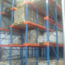 warehouse heavy storage rack drive in system