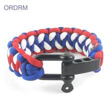 Womens Men's Survival 3 Color Paracord Bracelet