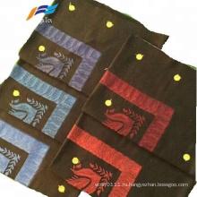 Модный летний женский шарф с вышивкой Pom Pom