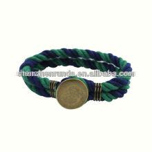 Venta al por mayor accesorios de moda joyería mens ancla pulsera náutica algodón cuerda pulseras