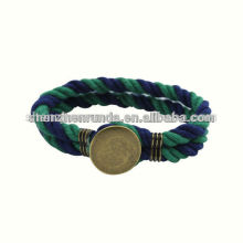 Atacado moda acessórios jóias mens bracelete âncora pulseiras náuticas corda de algodão
