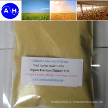 Fertilizante de quelato de aminoácidos de calcio para aplicación foliar y por goteo