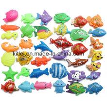 Les jouets en plastique à double face de poissons en plastique de jouet des enfants