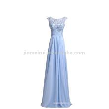 Hot Sale A-line Chiffon Evening Gowns Long 2016 Plus Size Appliqued Beaded Prom Dresses Vestido De Festa longo
