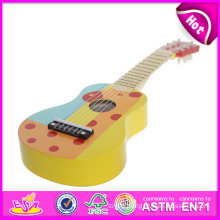 New Product Hot Musical Instrument Guitar Toy for Kids with CE Test, Colorful Wooden Toy Guitar Toy for Children W07h032