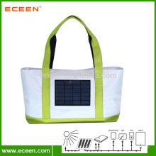 2.4W, 2200 mah banco de energia, energia solar, saco de compras na praia