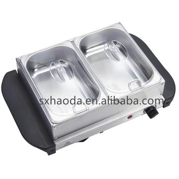 2 Pans Buffet Server Warmer
