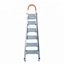 folding step stool/Foldable Heavy Duty 4 Steel Wide Step Ladder/Stepladder Non Slip Tread Safety Kitchen Stool domestic ladder