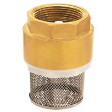 Латунный пружинный обратный клапан с сеткой, J5001 латунный обратный клапан pn16