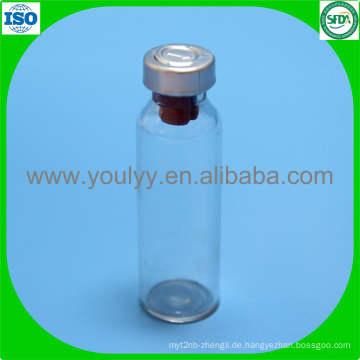 Glasflasche mit Metallkappe