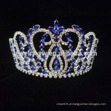 Venda Por Atacado cristal azul tiara cabelo coroa pente