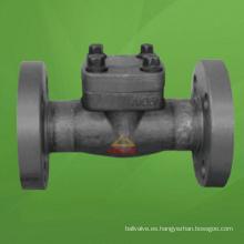 Válvula de retención de pistón de brida de acero compacta (GAH41H)