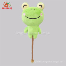 Cute plush stuffed vallentine's day frog animal toy plush massage hammer