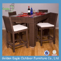 Outdoor Furniture Rattan Set with Long Chair