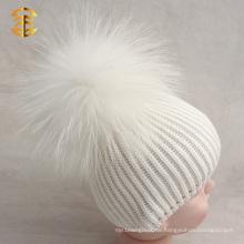 Fabrik direkt Versorgung Baumwolle Baby Pom Pom Beanie Hut