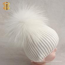 Fábrica de Abastecimento direto Algodão Bebé Pom Pom Beanie Hat