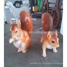 Samll animales escultura de fibra de vidrio