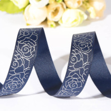 customized new design pretty wholesale floral ribbon