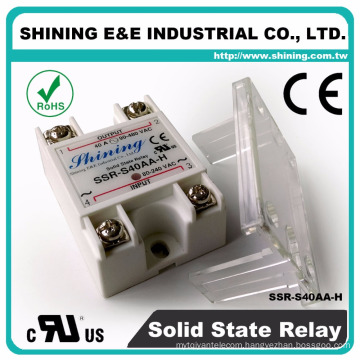 SSR-S40AA-H UL Electric 24V 40A Module 220V AC Solid State Relay
