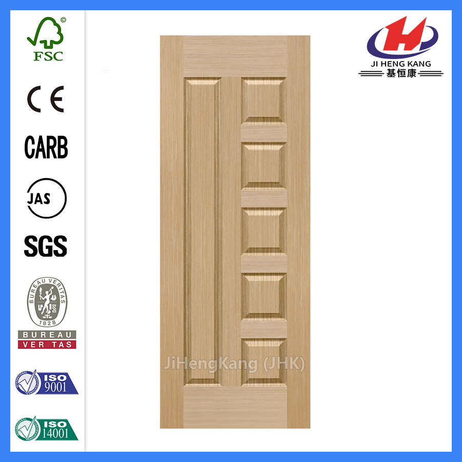 *JHK-010 6 Panel Wood Doors Double Wooden Doors Latest Oak Veneer Door Skin