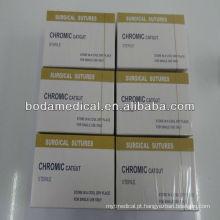 Sutura de catgut cromático absorvível 2/0