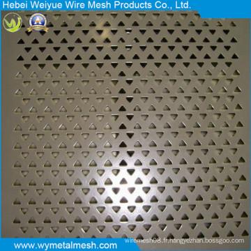 Fournisseur de tôle perforée en acier inoxydable