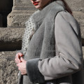 Hooded Merino Winter Shearling Coat For Lady
