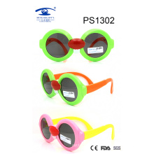 Fashionable Special Shape Colorful Kid Plastic Sunglasses (PS1302)