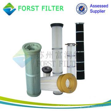 Top Load plisado filtro con tapa de metal pasivado