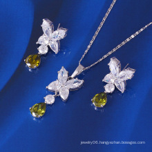 Xuping Drop Shape Luxury CZ Stone Jewelry Set (60648)