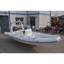 Barco de resgate inflável rígido de tamanho grande de 6,8 m