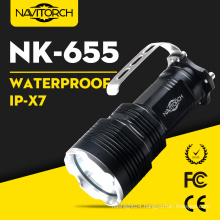 860 Lumens Xm-L T6 LED Waterproof Ipx7 Rechargeable Aluminum Flashlight (NK-655)