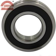 Rodamiento de bolas de ranura profunda con certificación ISO con esquina negra (6202ZZ)