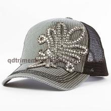 Fashion Rhinestone Applique Thick Stitching Leisure Trucker Hat (TM666502015099A)