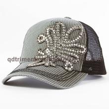 Мода Rhinestone аппликация Толстые шить Leisure Trucker Hat (TM666502015099A)