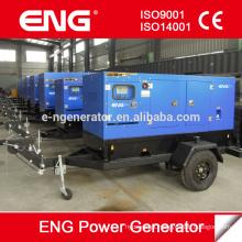 Grupo gerador de reboque móvel, usina de gerador portátil de 200KW
