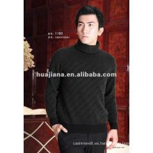 Los hombres de lujo mezclaron suéter de cuello alto de cachemira