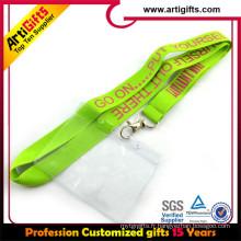 Longe de tube personnel de sublimation de haute qualité avec le support de carte d'identification de travail