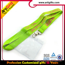 High quality Sublimation personal tube lanyard with work id card holder