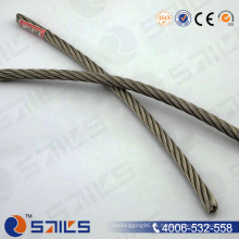 Cuerda de alambre de acero galvanizada eléctrica de la venta caliente 6 * 7 + FC de la fábrica de China