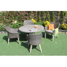 Leading Design Garden Dining Set PE Rattan Resin Wicker Furniture