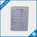 Tag de impressão de papel para amostras de vestuário PP