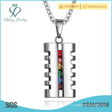 Silver lovers couple pendant,stainless steel gay mens pendants