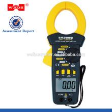 Pinza amperimétrica digital BM2000B con luz de fondo del zumbador de continuidad CERO Corriente CA y CC actual grande 2000A