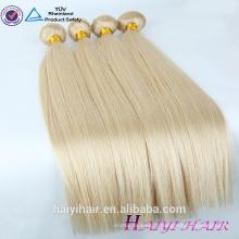 Vierge cuticule alignée cheveux 613 extension de cheveux eurasienne droites remy blonde blonde cheveux russes