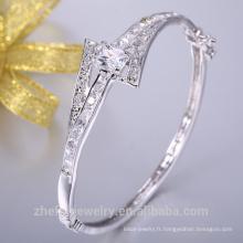 925 bijoux en argent sterling costume femmes cadeau de noël bracelet avec zircon cubique