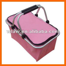 Fabric shopping collapsible basket