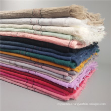 New arrival plaid musim women hijab scarf dubai cotton hijab wholesale