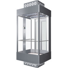 Smr Machine Room Panoramic Passenger Elevator for Supermarket