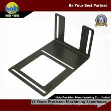 Piezas de mecanizado del CNC de la fabricación de metales del acero de la solapa del final de la aleta agradable